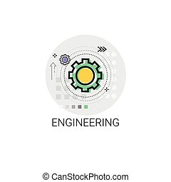 Engineering Cog Wheel Mechanical Detail Part Icon