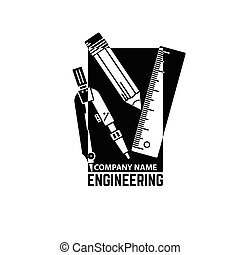 Engineering Company Logo Template.