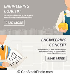 Engineering Concept Horizontal Banners