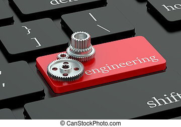 Engineering concept on keyboard button