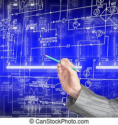 Engineering designing. Communication. Industrial scheme