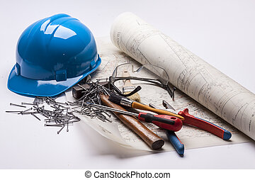 Engineering equipment - white background.
