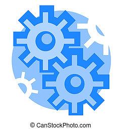 Creative design of engineering icon