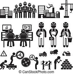 Engineering icon - Engineering workshop in Industry icon