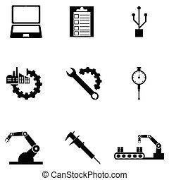 engineering icon set