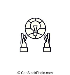 Engineering linear icon concept. Engineering line vector sign, symbol, illustration.