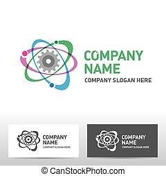 Engineering logo design. Vector illustration
