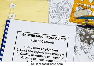 Engineering Procedures of a machinery with engineering tools...