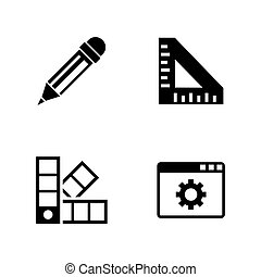 Engineering tools. Simple Related Vector Icons - Engineering...