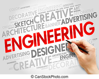 Engineering word cloud