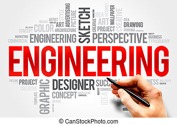 Engineering word cloud concept