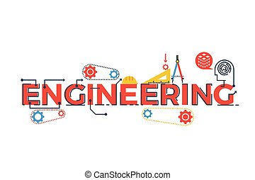 Engineering word illustration - Illustration of ENGINEERING ...