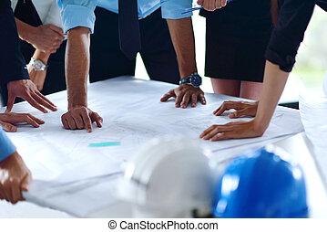 engineers, встреча, бизнес, люди