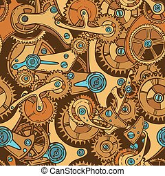 Engineers sketch seamless pattern color