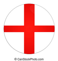 England button with flag