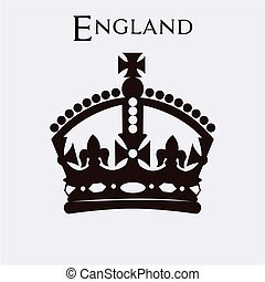 England - Isolated british crown on a white background....