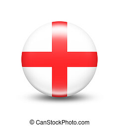England country flag in sphere with white shadow