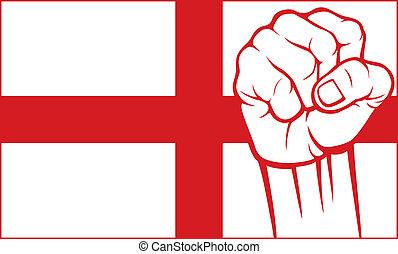 england), (flag, angleterre, poing
