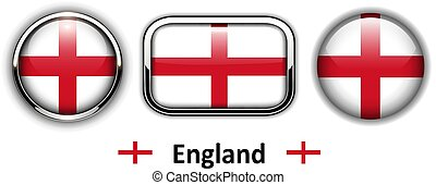 England flag buttons