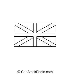England flag icon, outline style