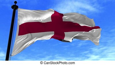 England Flag in the Wind