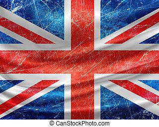 England flag on grunge wall