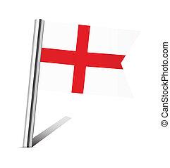 England flag pin
