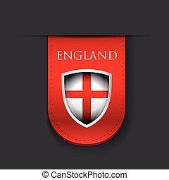 England flag shield ribbon