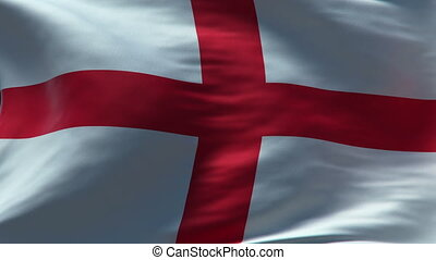 england flag waving loop