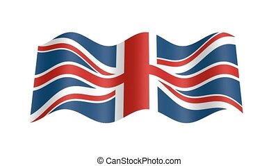 England flag wavy, 3d animation loop