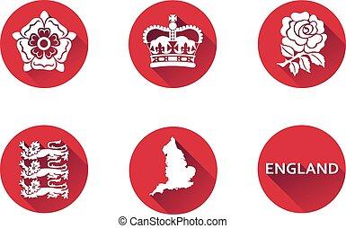 England Flat Icon Set 1.