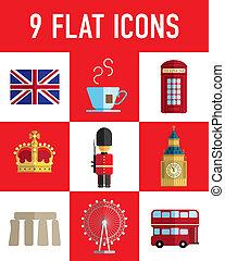 england flat icons