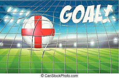 England football goal point