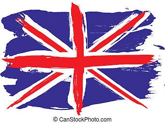 england, grunge, flag