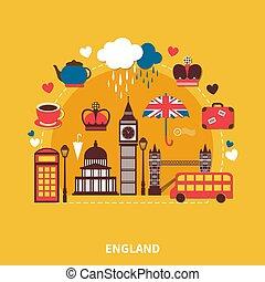 England Landmarks Design Concept - England landmarks design...
