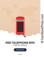 England. London. Red telephone box. Time to travel. Travel...