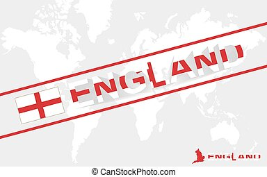 England map flag and text illustration