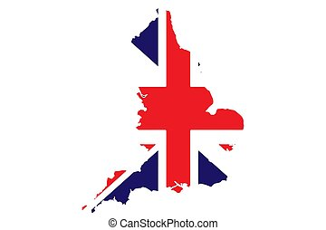 England Map National Flag Icon Vector illustration
