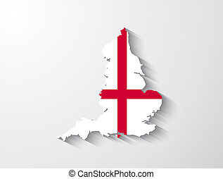 England map with shadow effect