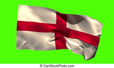 England national flag blowing in the wind