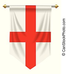 England Pennant - England flag or pennant isolated on white