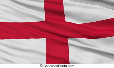 England Religious Close Up Waving Flag
