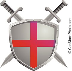 England shield and sword vector