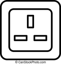 England socket icon, outline style