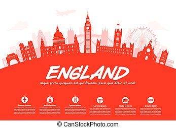 England Travel Landmarks.
