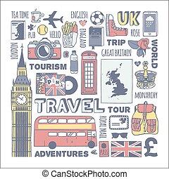 England travel set.