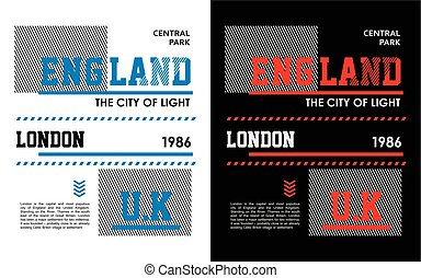 England Typography Design T-shirt Graphic