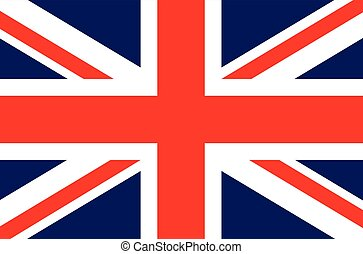 England UK British flag vector illustration