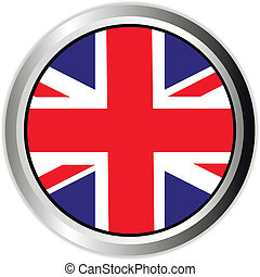 England UK flag button on white