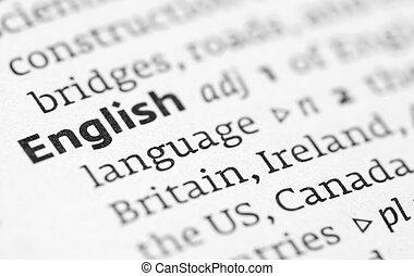 englisches , definition, in, a, wörterbuch